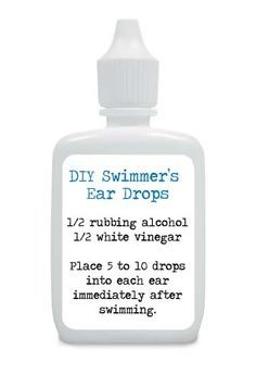 Prevent Ear Infections This Summer . . . Make Your Own Swimmers Ear Drops