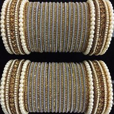 Cast yourself with special gold jewellery. Get in touch with us on Silk Bangles, The Bangles, Bridal Bangles, Silver Bracelets, Silver Jewelry, Bridal Jewelry, Thread Bangles Design, Bracelets Design, Gold Bangles Design