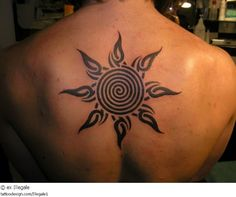 Top 50 Attractive Tribal Sun Tattoo Designs And Ideas