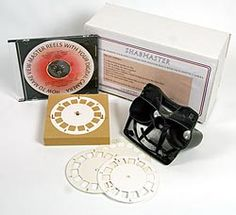 Make your own View Master Reels~From 3DStereo.com. This would be a fun way for kids (of all ages) to remember vacations or special events.