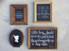 Peter pan quotes typeography baby boy room