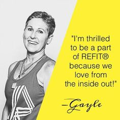 We can't get the words out quickly enough: We love our Instructors! Today we want you to meet one in particular that lives it up in southern Missouri! •••••••••• I'm thrilled to be a part of REFIT:registered: because we love from the inside out and see t