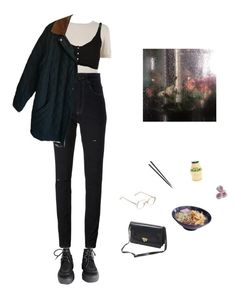 """""""frames"""" by paper-freckles ❤ liked on Polyvore featuring Behnaz Sarafpour, INDIE HAIR, Yves Saint Laurent, Forte Forte, Polo Ralph Lauren and Valentino"""