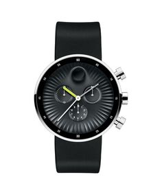 Movado   Movado Edge Men's Large Chronograph Watch With Black Aluminum Dial with Strap   Movado International