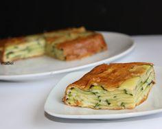 Pastel invisible de calabacin ~ Las recetas de Mabel Mendez. Torts de zuquini y quest cream.