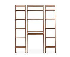 Magrit Modular Wall Unit - Scandinavian Designs Bookcase Desk, Wide Bookcase, Bookcases, Modular Walls, Modular Shelving, Desk Wall Unit, Wall Units, Store Interiors, House Entrance
