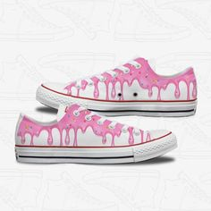 Custom Painted Shoes, Hand Painted Shoes, Custom Shoes, Custom Converse, Custom Sneakers, Converse Shoes, Zapatillas All Star, Donut Shoes, Painted Converse