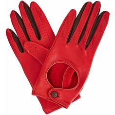 Gizelle Renee - Bega Red Leather Driving Gloves (2862865 BYR) ❤ liked on Polyvore featuring accessories, gloves, red gloves, driving gloves, leather driving gloves, leather gloves and red driving gloves