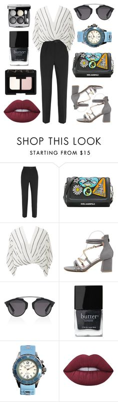 """Business Chic"" by rachel-blum ❤ liked on Polyvore featuring Dolce&Gabbana, Karl Lagerfeld, Free People, Christian Dior, Butter London, KYBOE!, Lime Crime and NARS Cosmetics"