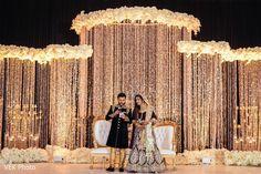 Reception Stage Decor, Wedding Stage Backdrop, Wedding Backdrop Design, Wedding Stage Design, Reception Backdrop, Engagement Stage Decoration, Wedding Hall Decorations, Desi Wedding Decor, Luxury Wedding Decor