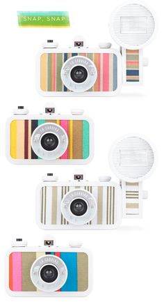 How cute are these La Sardina Beach cameras by Lomo...!