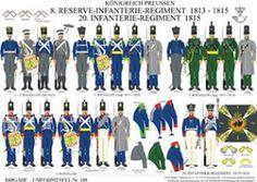 プレート198:プロイセン王国:第8区歩兵連隊一千八百十三から千八百十五