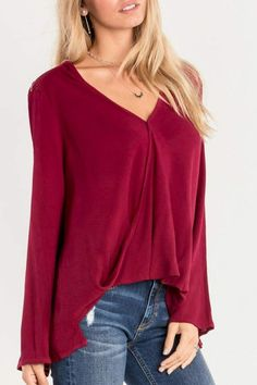 Miss Me Red Swing Blouse~CLICK TO BUY~