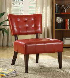 Warner Collection Accent Chair 489RD. Red AccentsOccasional ChairsLiving  Room ...