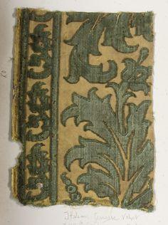 Fragment Date: 17th century Culture: Italian (Genoa) Medium: Silk Accession Number: 2002.494.269