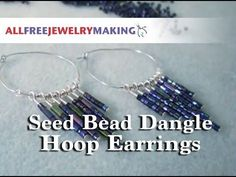 Spice up some simple silver hoops with this awesome video tutorial for how to make bead earrings. Tapered Seed Bead Dangle Hoops add a cascade of shimmering metallic seed beads for a dynamic variation on your typical hoop earrings.