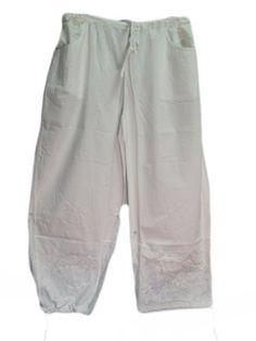 Yoga Trendz White Indian Bohemian Hippie Yoga Embroidered Pants Yoga Trendz. $35.00
