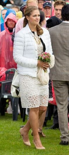 Princess Madeleine in Vera Wang dress  during the celebration of Victoria Day 2014 at the Borgholm sports arena in Oland, Sweden