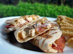 chicken bacon ranch quesadillas - preferably without mushrooms