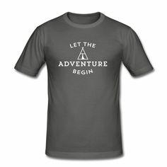 let the adventure - Camiseta ajustada hombre