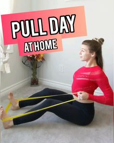 Try this Pull Day Workout, back & biceps workout for women with only Mini-Bands. Do this workout anywhere! Try this Pull Day Workout, back & biceps workout for women with only Mini-Bands. Do this workout anywhere! Workout Woman, Bicep Workout Women, Back And Bicep Workout, Back And Biceps, Biceps Workout At Home, Shoulder Workout, Fitness Workouts, At Home Workouts, Pilates Workout Videos