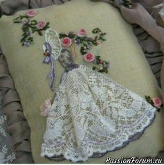 Wonderful Ribbon Embroidery Flowers by Hand Ideas. Enchanting Ribbon Embroidery Flowers by Hand Ideas. Hand Embroidery Stitches, Modern Embroidery, Silk Ribbon Embroidery, Hand Embroidery Designs, Vintage Embroidery, Embroidery Techniques, Cross Stitch Embroidery, Embroidery Patterns, Embroidered Lace
