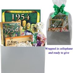 60th Birthday Gift Basket - Live Your Life - with 1954 Retro Items - http://mygourmetgifts.com/60th-birthday-gift-basket-live-your-life-with-1954-retro-items/