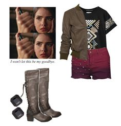 Malia Tate - tw / teen wolf by shadyannon on Polyvore featuring polyvore fashion style Chicnova Fashion Lot78 Brave Soul Abercrombie & Fitch Kenneth Jay Lane clothing
