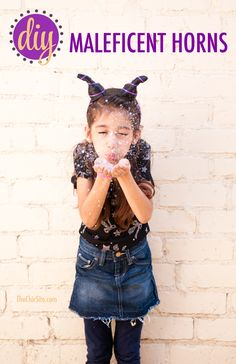 Make Maleficent Horns for Little Girl