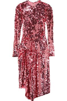 Preen by Thornton Bregazzi | Carlin asymmetric sequined tulle midi dress | NET-A-PORTER.COM