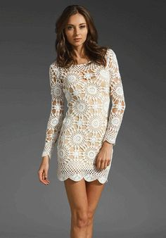 2803e1a7d1 Evening Dresses – Crochet mini dress - Made to order – a unique product by  AsDidy on DaWanda. Women's Fashion