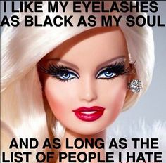 That's what mascara is for.
