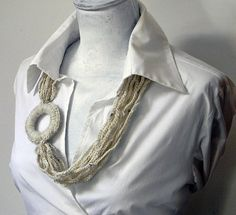 wool necklace