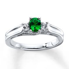 I absolutely LOVE this ring! Lab-Created Emerald Lab-Created Sapphires Sterling Silver Ring