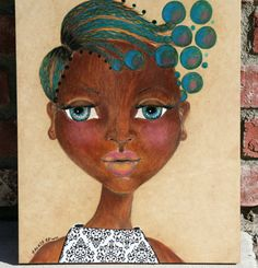African Art on WoodSweet Dreaming by SalkisReArt on Etsy, $229.00
