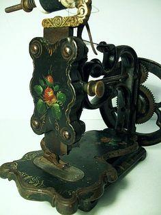 ANTIQUE  A. F. JOHNSON & Co. HAND CRANK SEWING MACHINE.