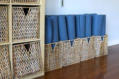 cool idea for mat storage