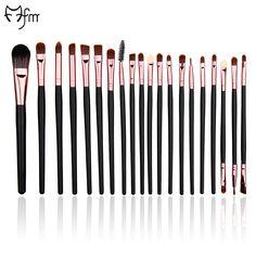 FM 20 Pcs Pro Makeup Brush Set Cosmetic Foundation Eyeliner Eyelash Eyeshadow Blusher Beauty Blending Brushes Tools Rose Gold #Affiliate