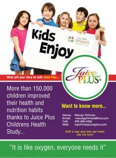 You CAN give your children the fruits and veggies their bodies need! They depend on you, and you can depend on Juice Plus! Read the Research. #juice plus #fitness #healthy living #children