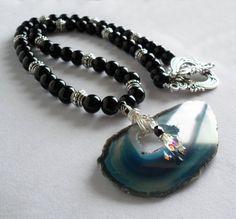 Druzy Agate Necklace / Druzy Pendant / by KATcustomDESIGNS on Etsy, $65.00