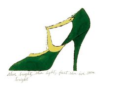 Shoe bright, shoe light, first shoe I've seen tonight, 1955 by Andy Warhol - art print from King & McGaw
