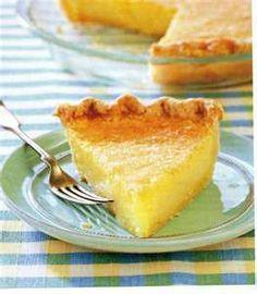 Lemon Chess Pie Recipe by Fine Cooking Pie Recipes, Dessert Recipes, Cooking Recipes, Kitchen Recipes, Sweet Recipes, Yummy Recipes, Lemon Desserts, Just Desserts, Deserts