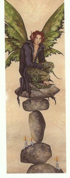 Amy Brown Fairy Bookmark Nimble Jack Male Boy Fantasy   eBay