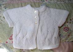 Baby Sweater Newborn Hand Knit Infant Girls White