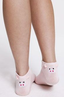 Novelty Pig Socks. I have these, I loved them, and they got a hole in them. Now I want more!