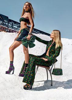 Gigi Hadid & Natasha Poly - Versace Spring/Summer 2016 Ad Campaign.