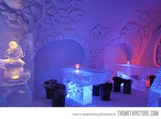 Restaurant of Snow and Ice in Kemi, Finland…  And it really IS cool--get it??