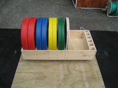 Back To Primal: Rolling bumper plate storage
