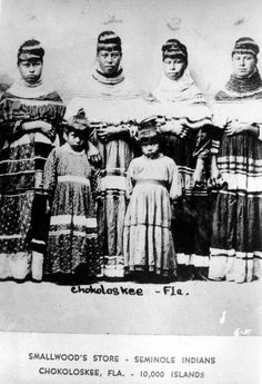 Seminole Indians at Smallwood's Store: Chokoloskee, Florida (early 1900s)