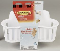 3M Command 17604B Small Shower Caddy with Water-Resistant Strips